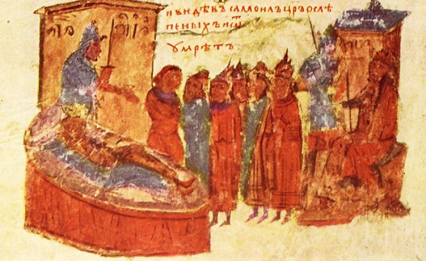 Смъртта на цар Самуил – средновековна миниатюра