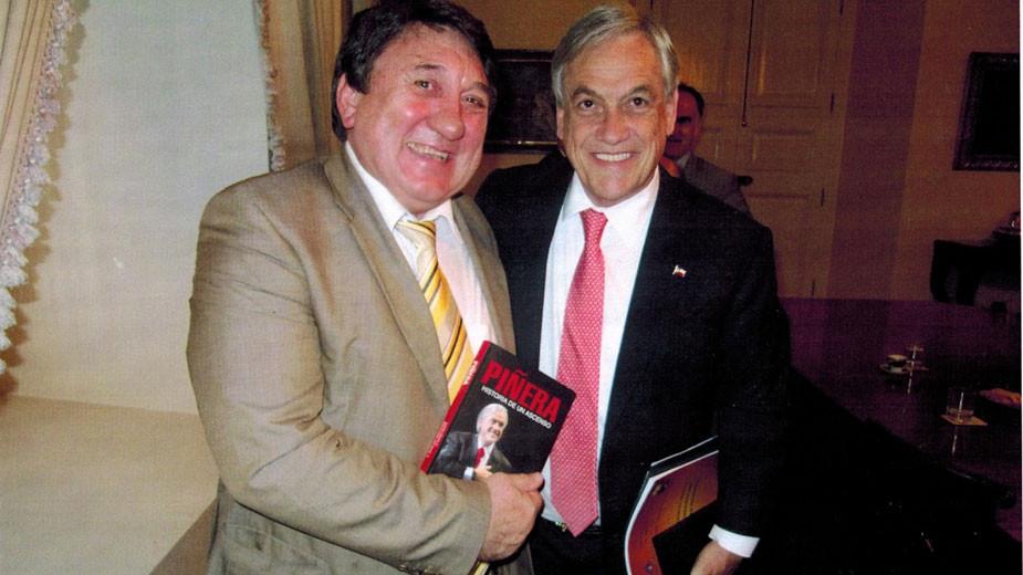 Чл. кор. проф. Владко Панайотов с президента на Чили Себастиан Пинеро
