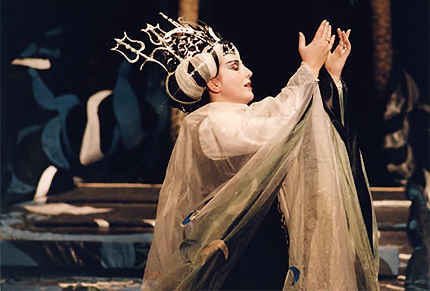 В роли принцессы Турандот в одноименной опере Джакомо Пуччини