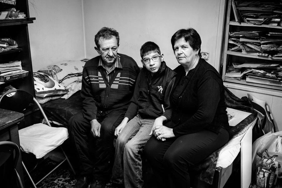 Любчо с баба си Саня и дядо Влади