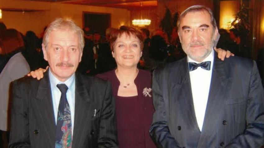 Raina Konstantinova, Director of Radio Bulgaria Angel Nedyalkov and Editor-in-Chief Milen Belchev celebrating Day of the Bulgarian National Radio.