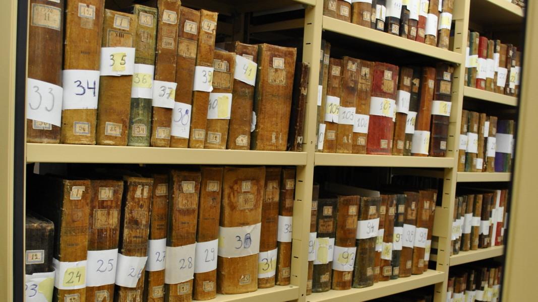 Част от библиотеката с безценните ръкописи