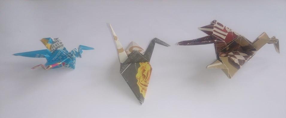 Някои от другите оригами произведения на Николай