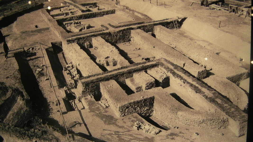 The Big Basilica during the excavations of 1968