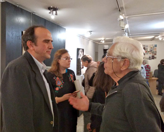 Ivan Kanchev (left) at the opening of the exhibition