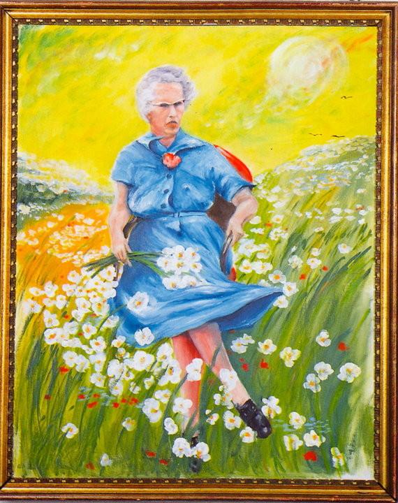 """""""Луси в полето с цветята"""", неизвестен автор  Снимка: Museum Of Bad Art, MOBA"""