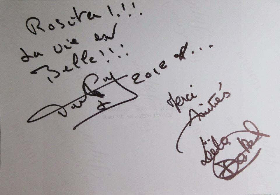 Автограф от Патрик Дюпон