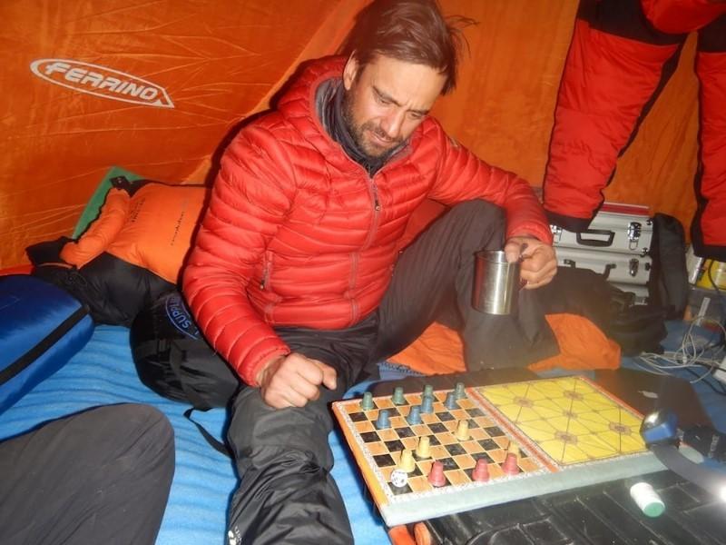 Даниеле Нарди в Базовия лагер на Нанга Парбат