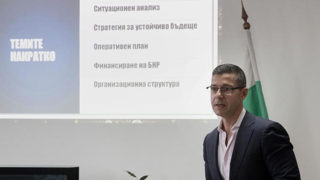 Андон Балтаков на изслушването в СЕМ. Снимка: БТА
