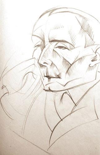 Бистра Винарова – портрет с молив на Никос Казандзакис