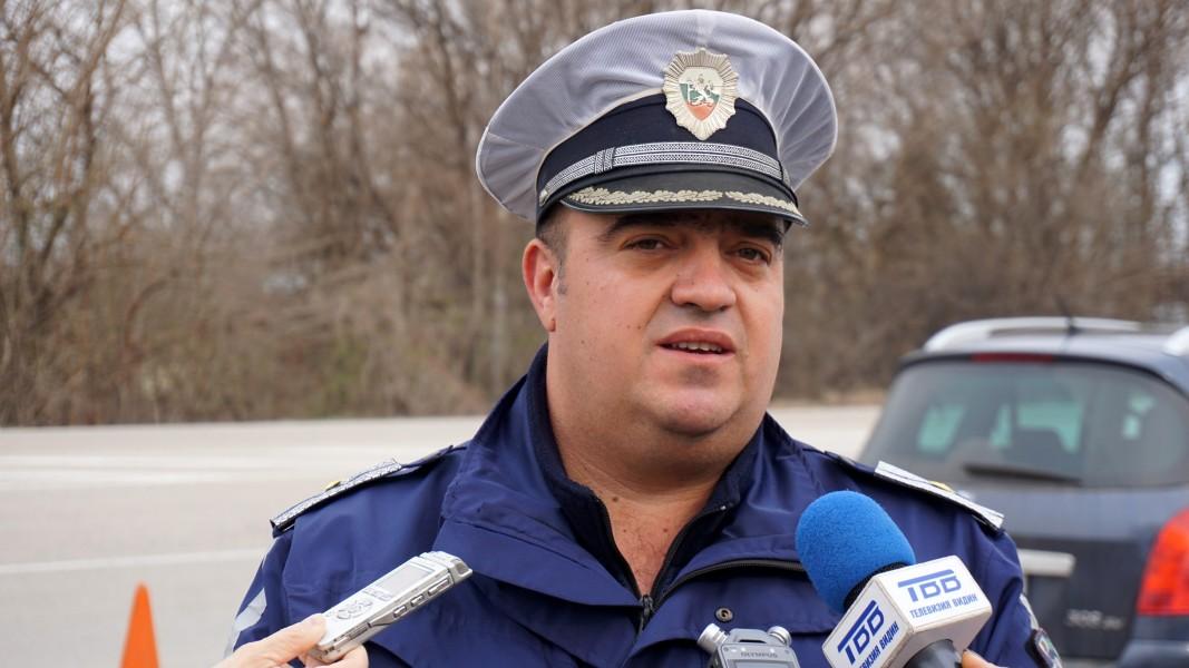 Старши инспектор Ивайло Обретенов, началник на група Пътен контрол към сектор Пътна полиция- Видин