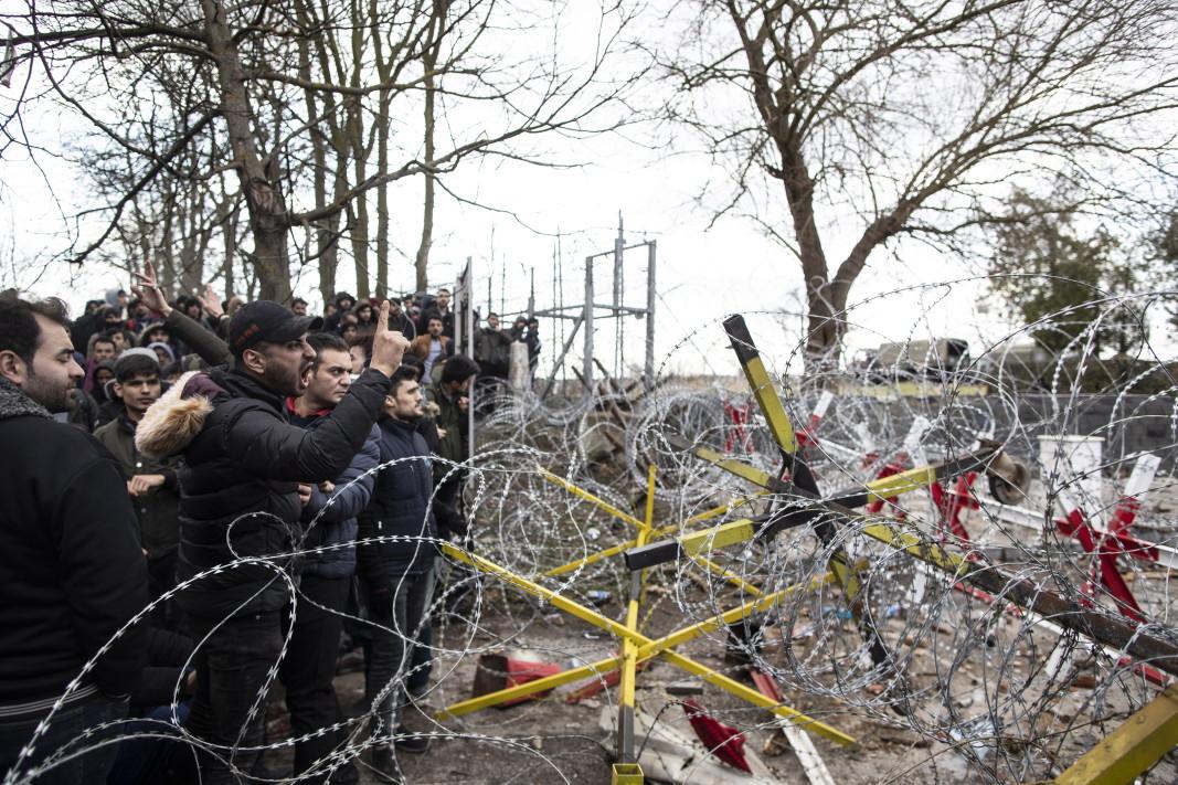 Мигранти на турско-гръцката граница - 29 февруари 2020 г.