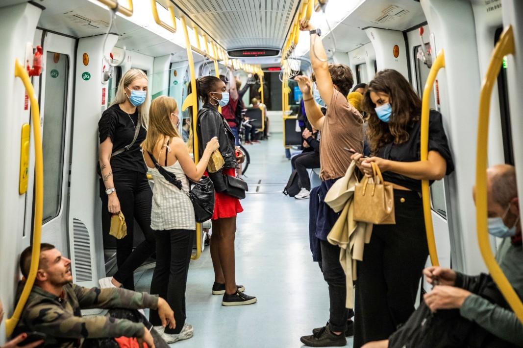 Копенхаген - маските са задължителни в метрото