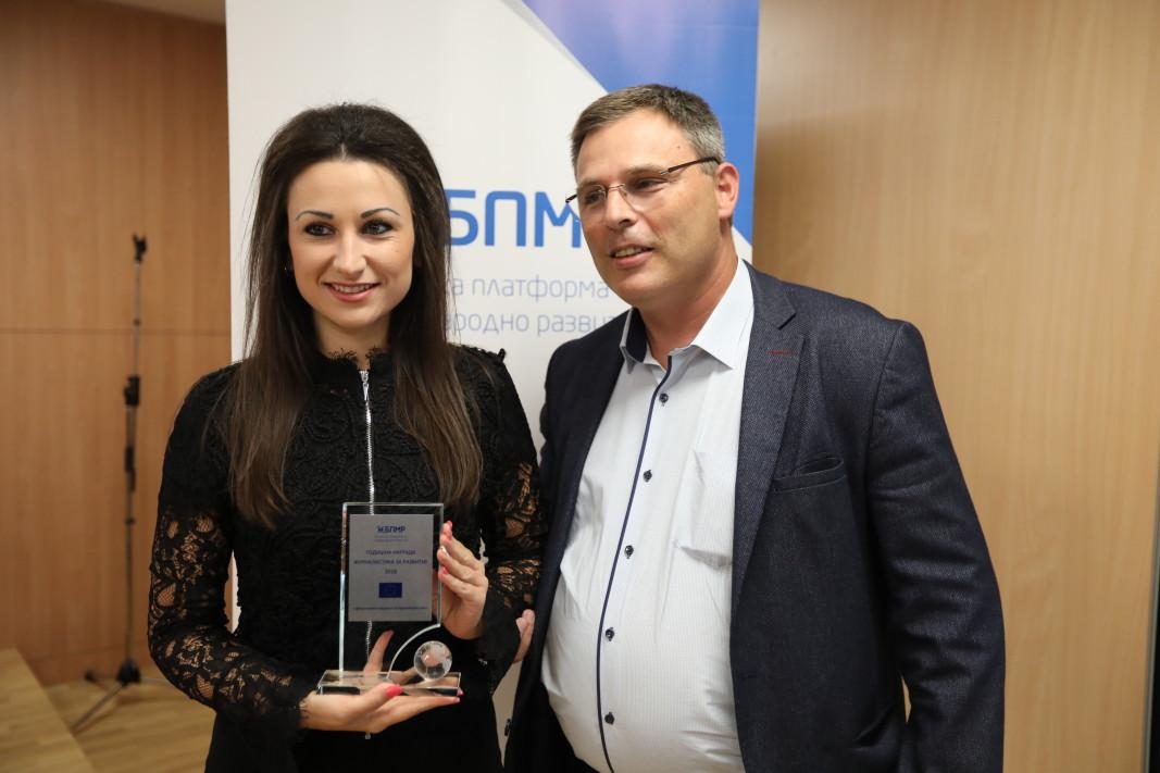 Елеонора Тахова и Венцислав Кирков, председател на УС на БПМР
