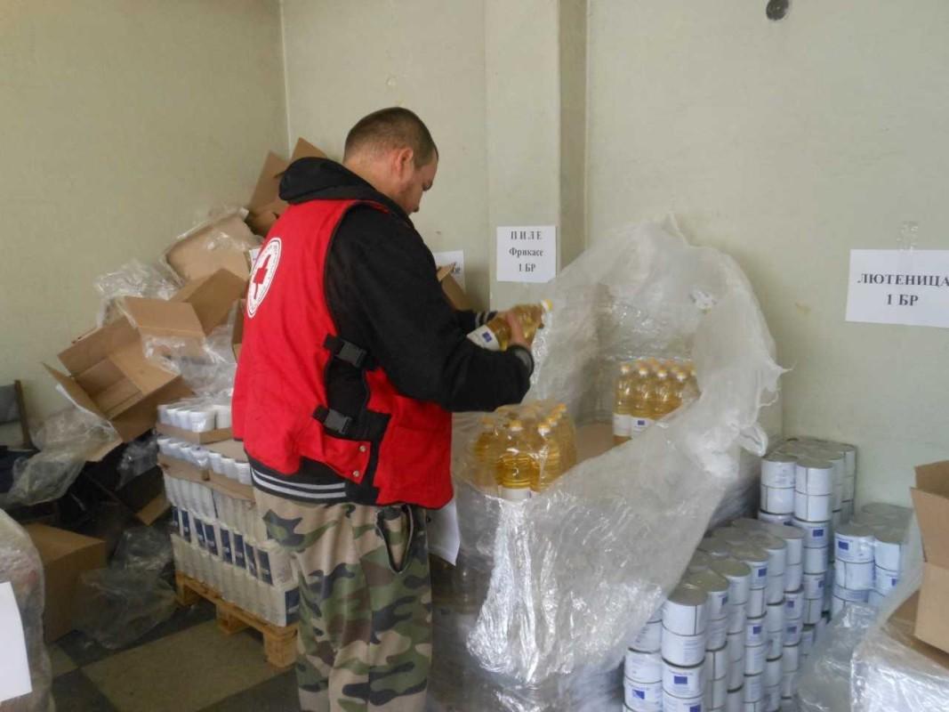 Във Велико Търново Българският червен кръст започна раздаването на помощите