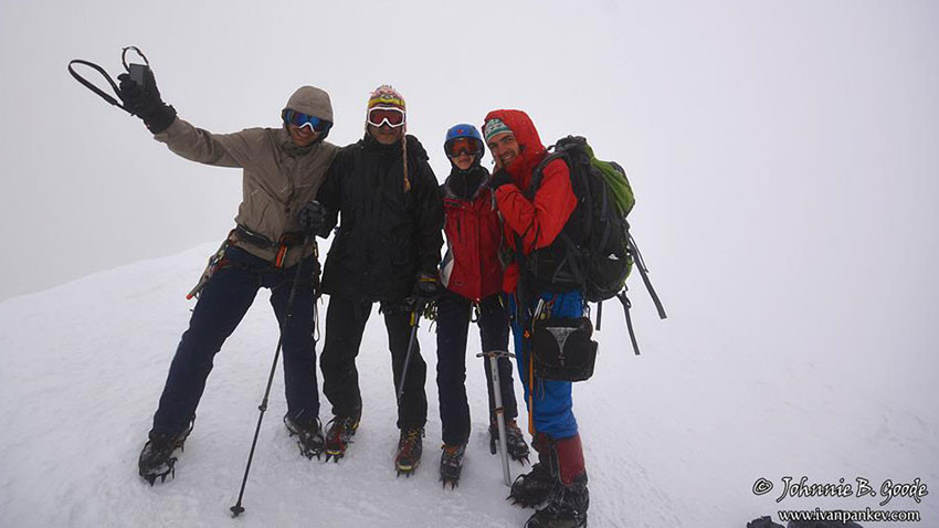 Au mont Kazbek (5047 m), Géorgie