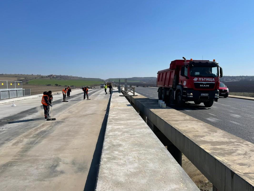 Автомагистрала Тракия - връзката за магистрала Марица и пътен възел Чирпан, март 2021 г.