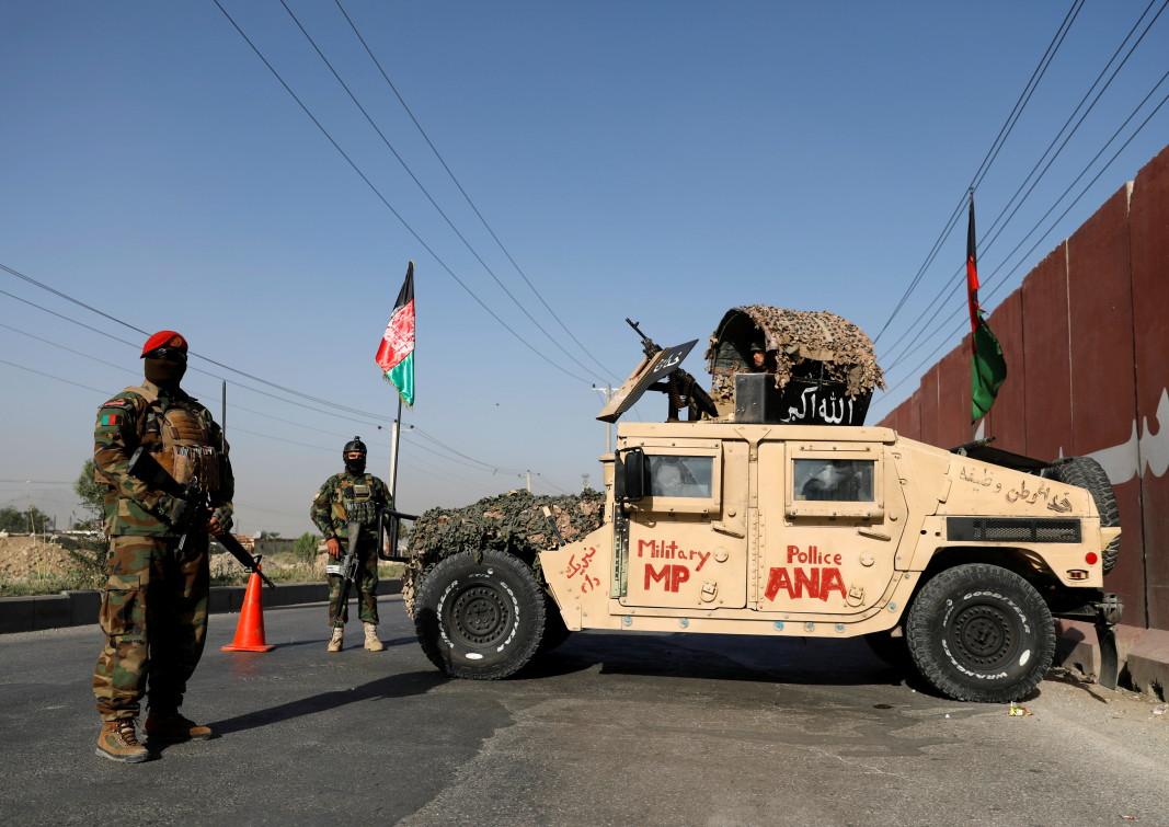Контролно-пропускателен пункт в столицата на Афганистан Кабул/ЕПА/БГНЕС
