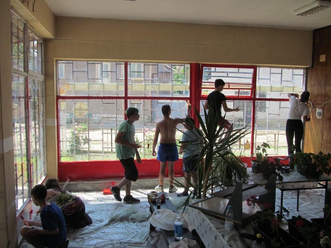 ремонт на пенсионерския клуб в Осен