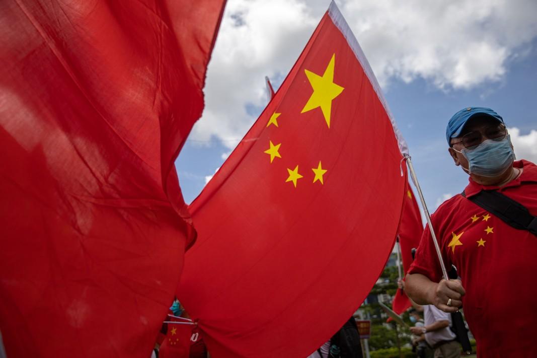 Акция в подкрепа на Закона за националната сигурност на Хонконг - 30 юни 2020