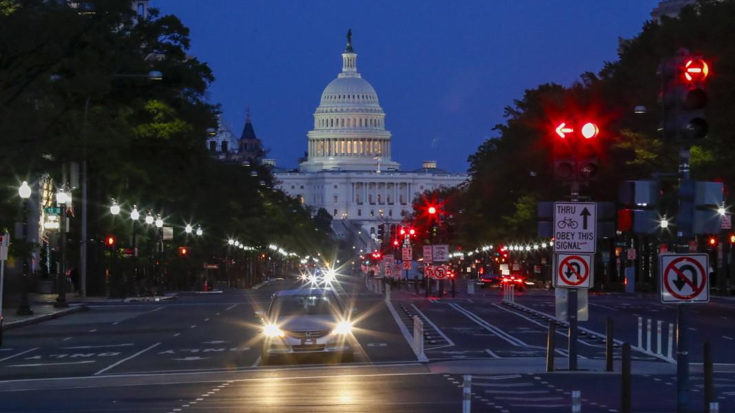 Вашингтон, изглед към Капитолия  - април 2020 г.