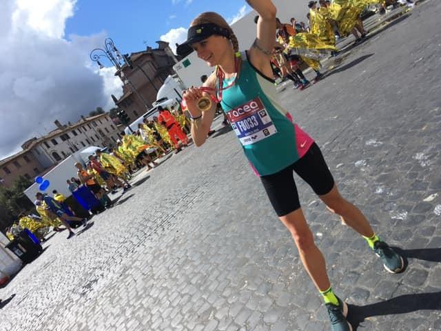 Финал на маратона в Рим, Италия