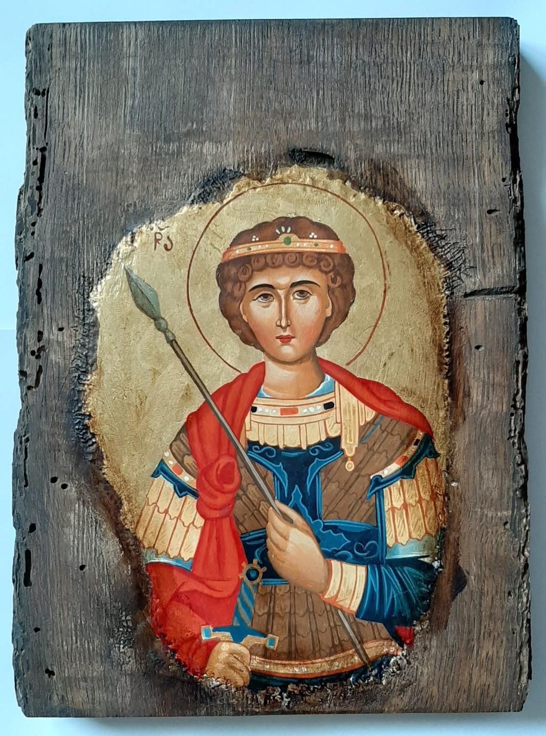 Икона на светеца без кон и змей