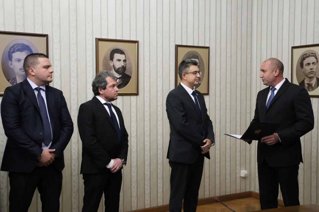 На срещата присъстваха и Тошко Йорданов, Ивайло Вълчев, Филип Станев, Станислав Балабанов; снимка: БГНЕС
