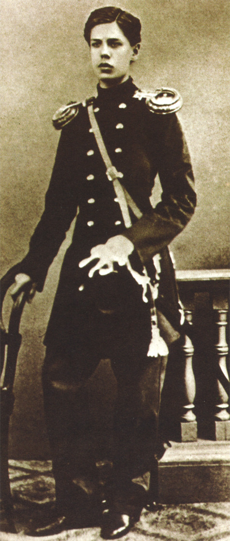 Мусоргски като офицер от Преображенския полк