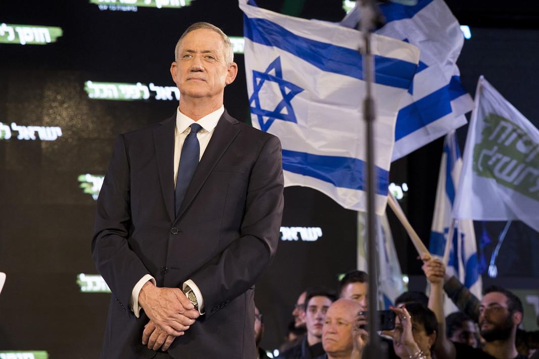 """Бени Ганц - лидер на """"Синьо и бяло""""."""