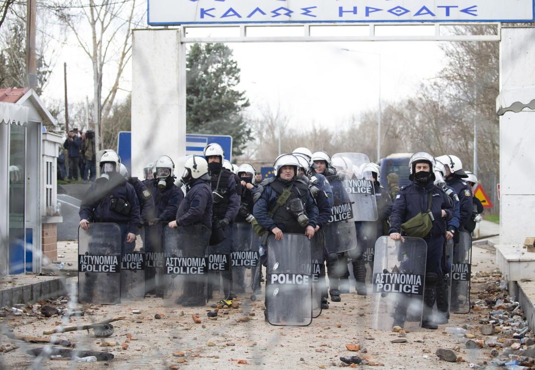 Гръцките сили за сигурност на границата - 29 февруари 2020 г.