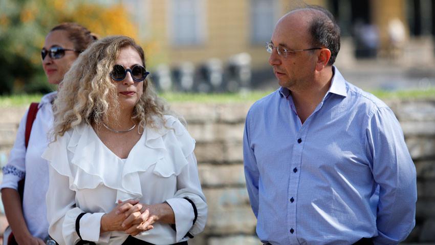 Поля Станчева и бившият министър Николай Василев