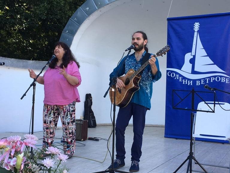 Доротея Табакова и Кирил Петков на фестивала