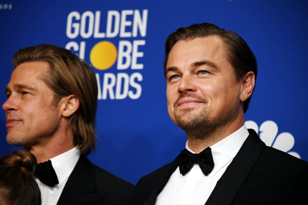 """Брад Пит и Леонардо Ди Каприо имат номинации за поддържаща и съответно главна роля в """"Имало едно време в Холивуд""""."""