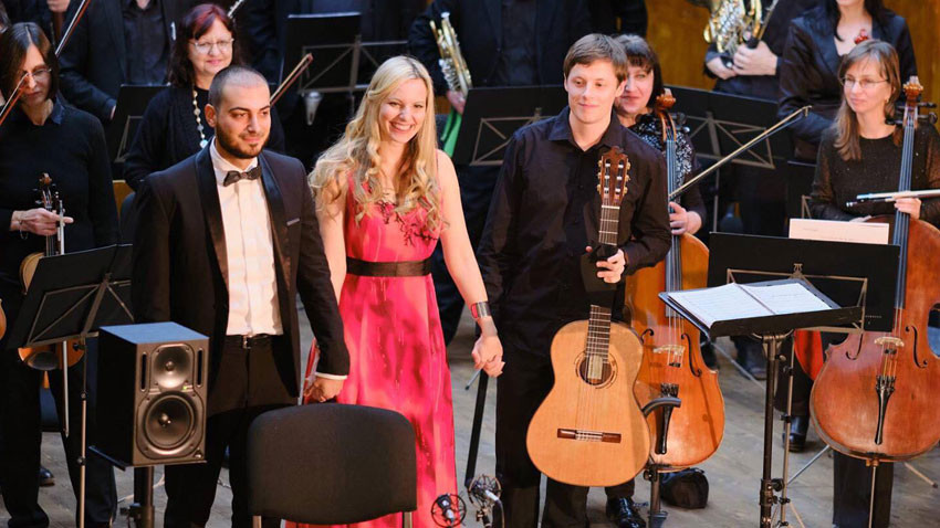 Concert of the laureates, left to right: Nicola Montela, Bozhana Pavlova and Niklas Johansen