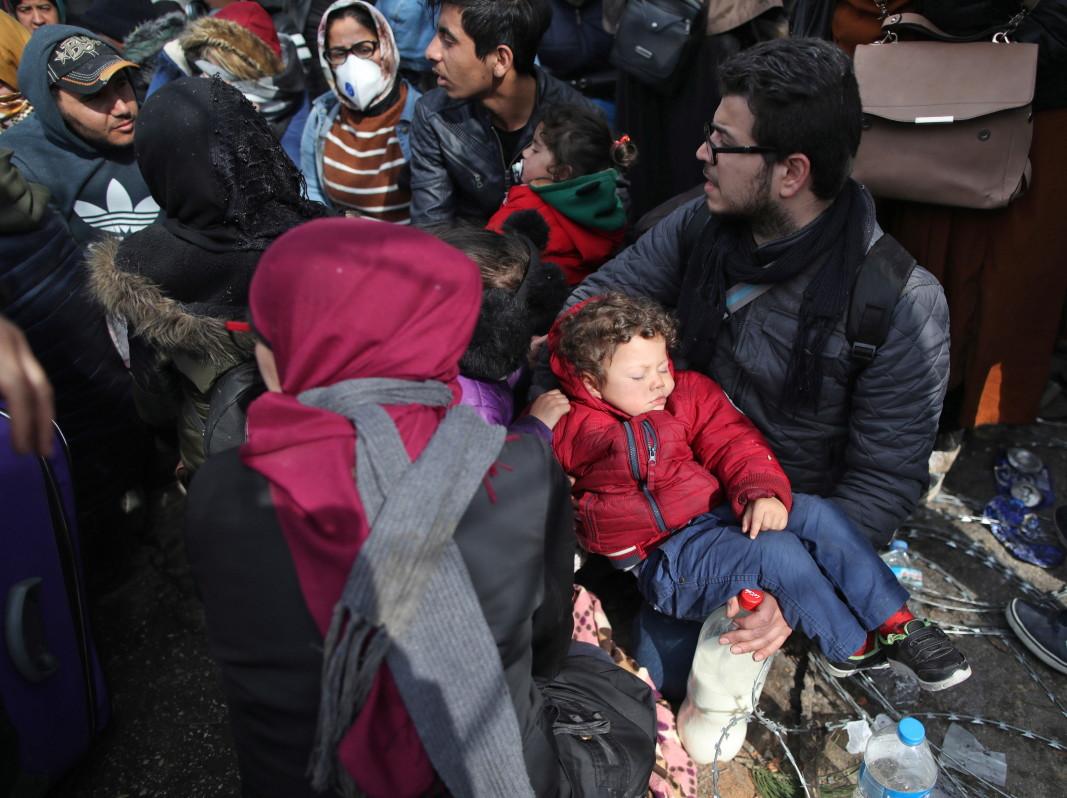 Мигранти край Одрин - 29 февруари 2020г.