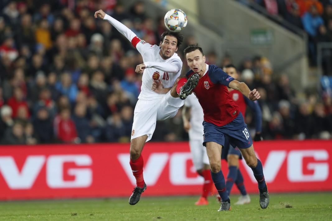 Отборът на България загуби от Норвегия с 0:1 в мач