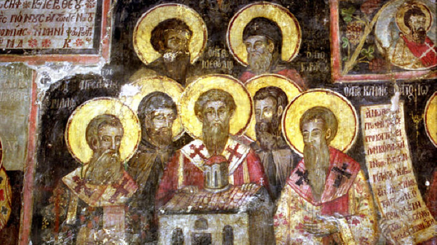 Fresco from Ardenitsa Monastery in Albania