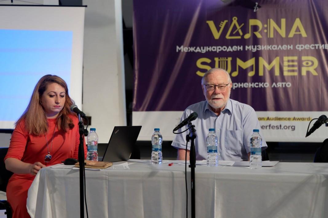 Д-р Петя Цветанова и проф. Хартмут Кронес - модератори на симпозиума