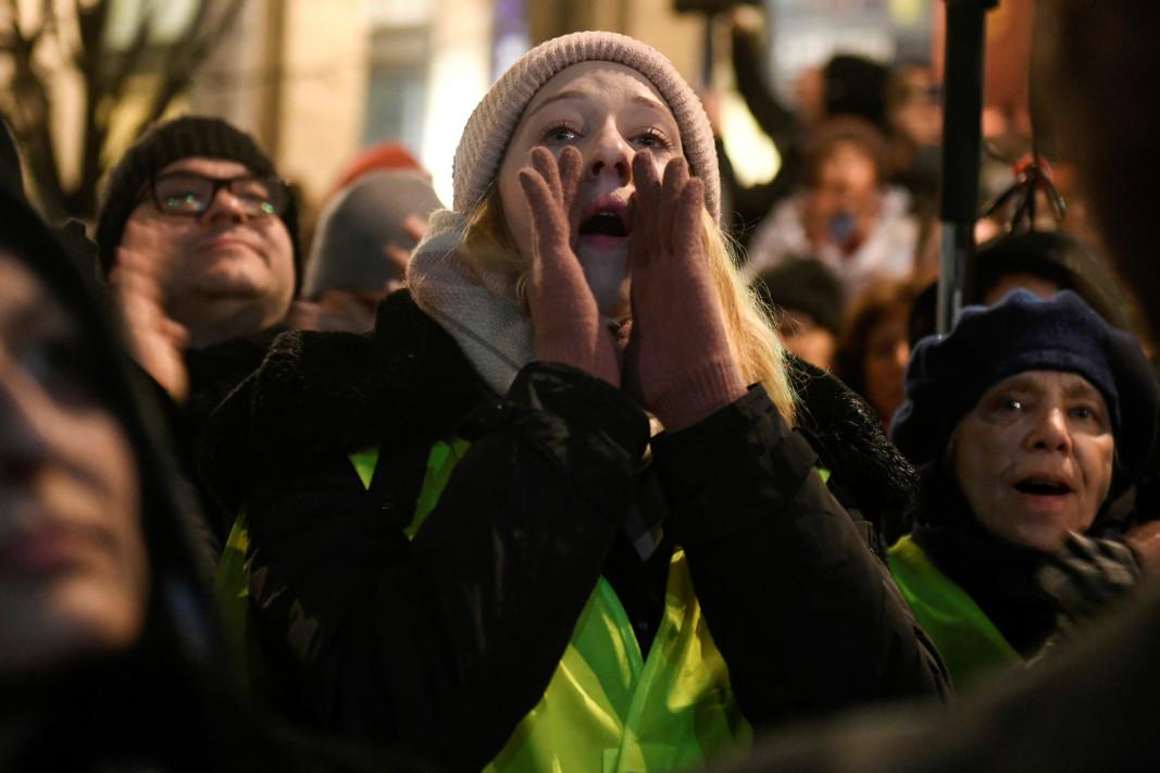Протест в Будапеща на 9 декември