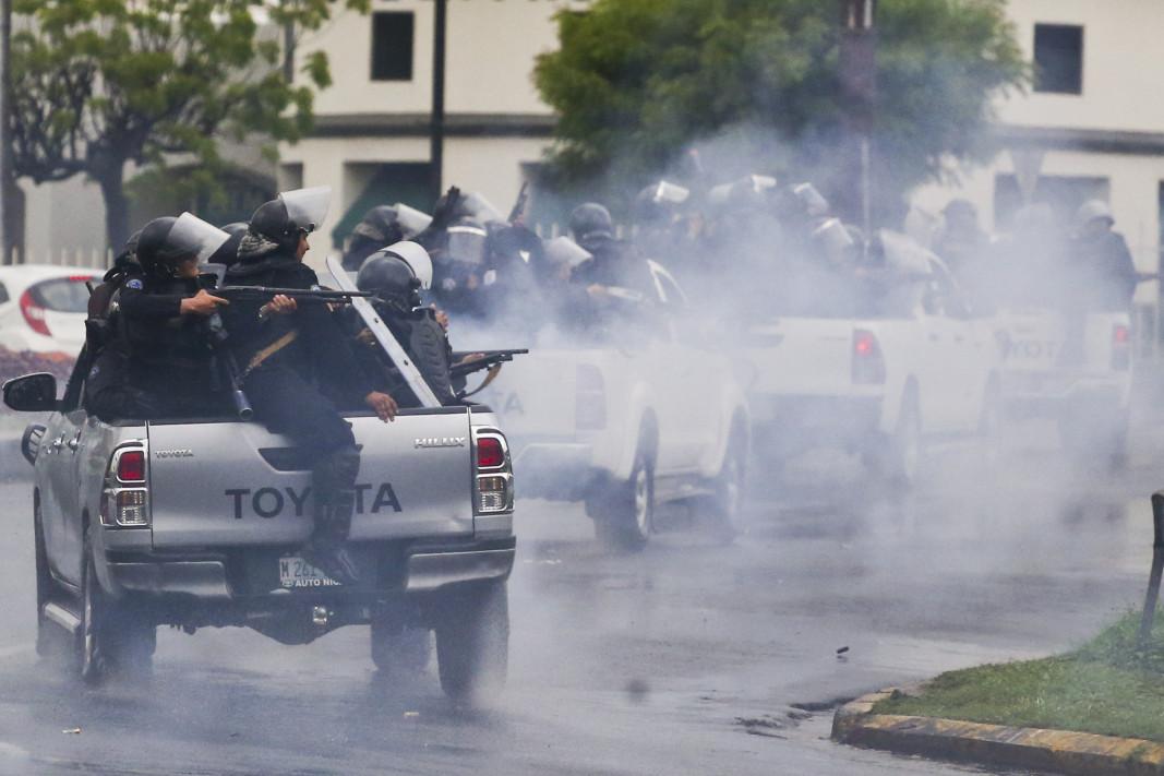 Протест в Никарагуа след налагането на американски санкции над 2-ма високопоставени представители на властите. Снимка: БТА