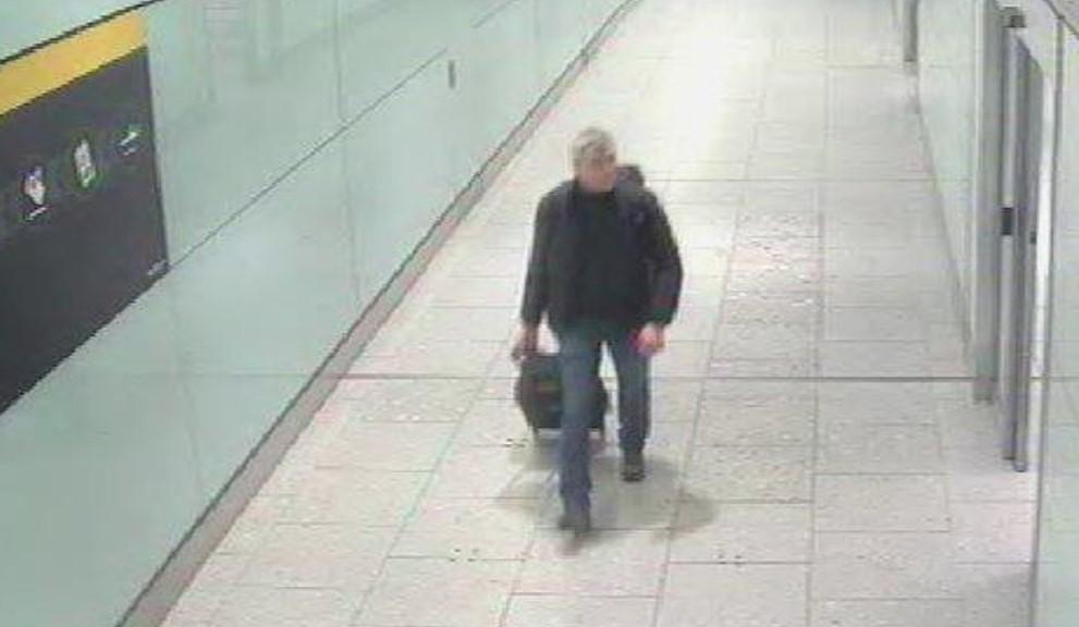 """Снимка на Федотов от пристигането му на летище """"Хийтроу"""". Снимка: Британска полиция"""