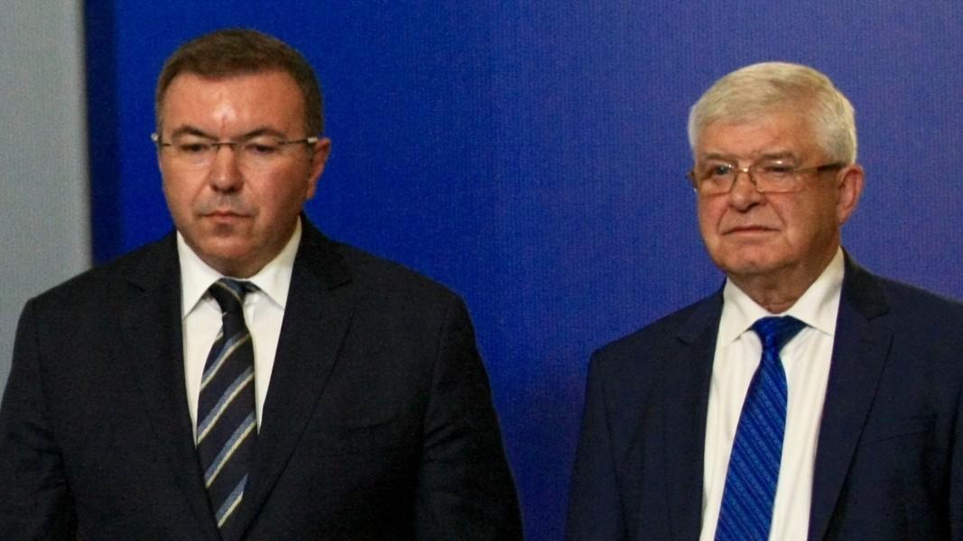 Kostadin Angelov (solda) ve Kiril Ananiev.
