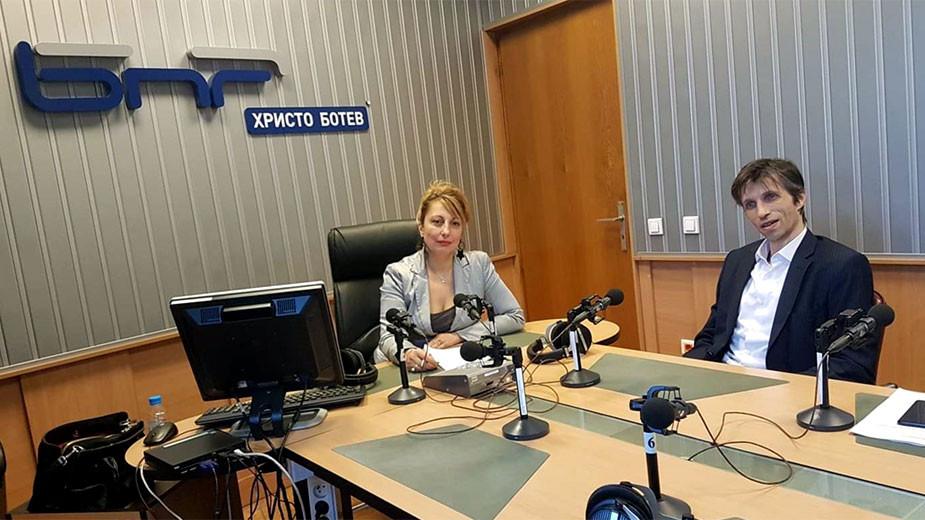 """Мария Мира Христова и доц. Григор Сарийски в студиото на програма """"Христо Ботев"""""""