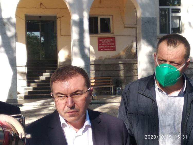 Министърът ва здравеопазването Костадин Ангелов в Сандански -  19 октомври 2020 г.