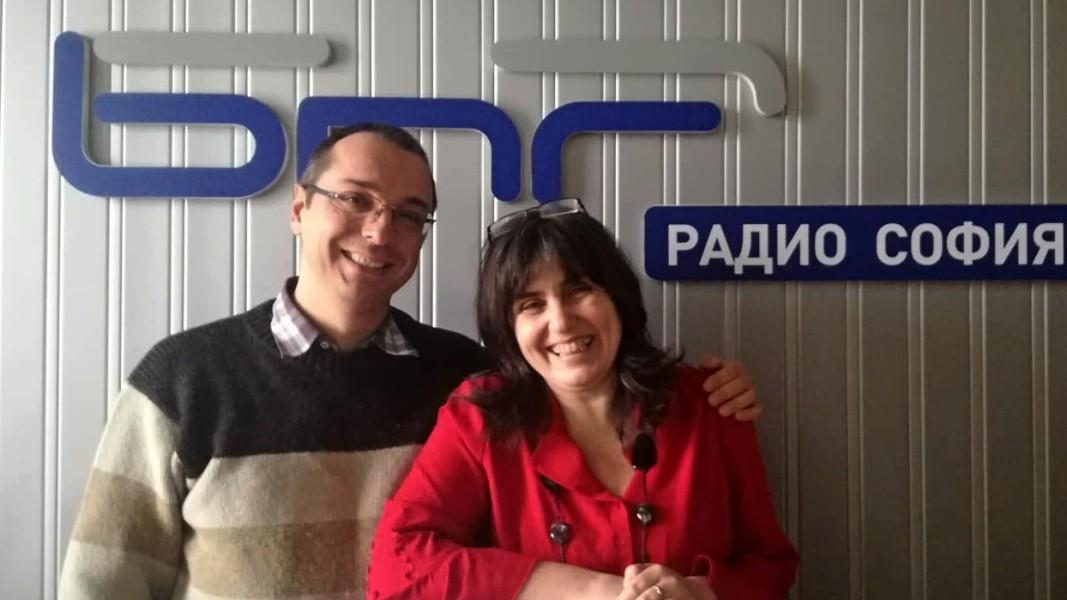 Павел Златаров с водещата Лили Големинова
