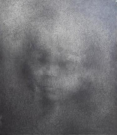 """Боряна Петкова, от серията """"Изчезнали"""", 2014 графит, 130 x130 см Частно притежание"""
