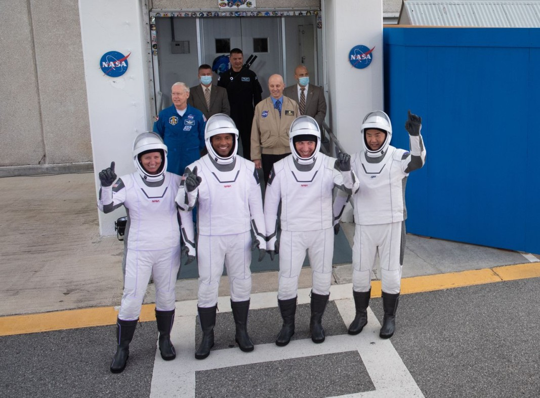 Четиримата астронавти. Снимка БТА