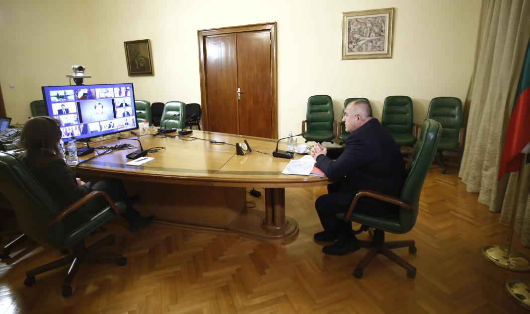 Бойко Борисов в заседанието на Европейския съвет, което се провежда чрез видеоконферентна връзка.