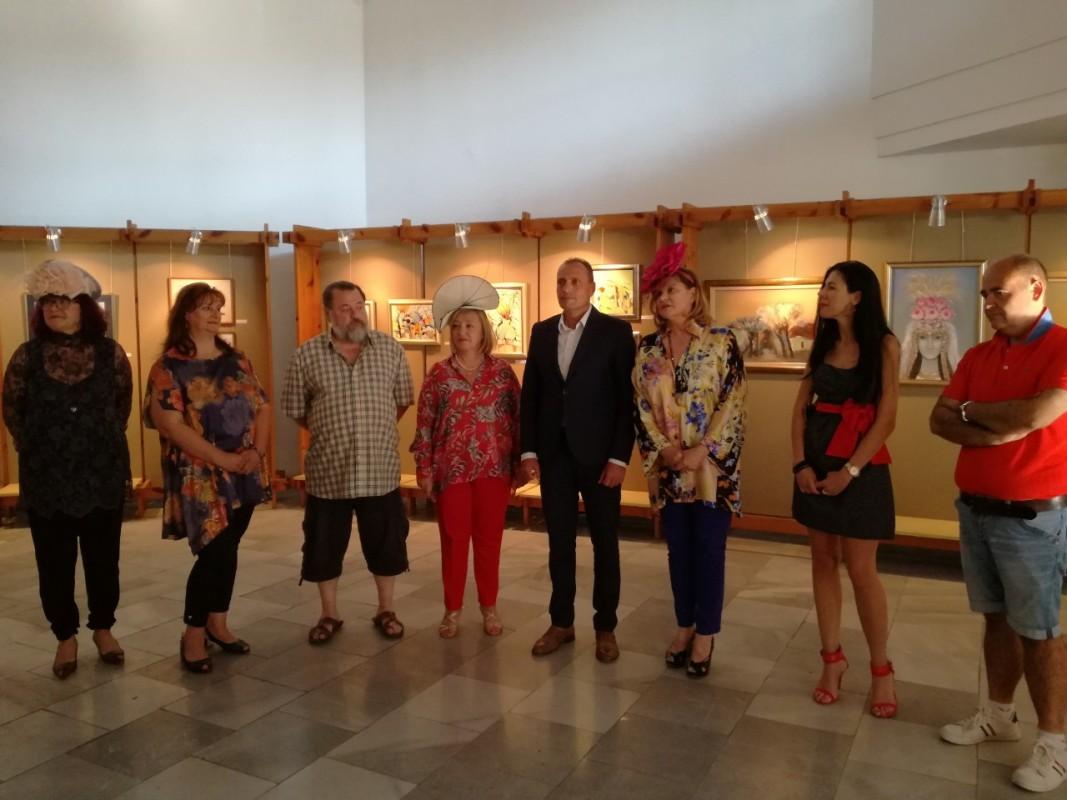 Откриване на изложбата на български художници